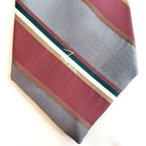 🍍John Weitz Burgundy Grey Green White Mens Tie